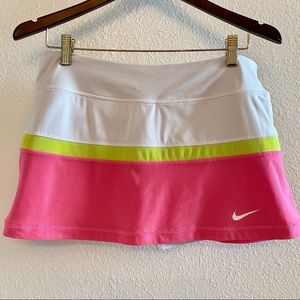Nike Dri-Fit Tennis Skirt White/Pink Size L